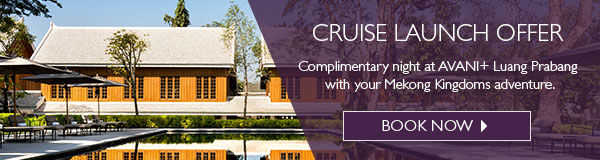 Begin or end your cruise with a stay at the new AVANI+ Luang Prabang – on us.