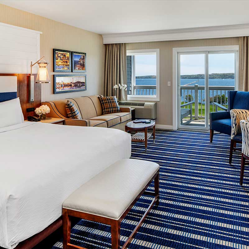 Image displays Samoset Resort hotel room